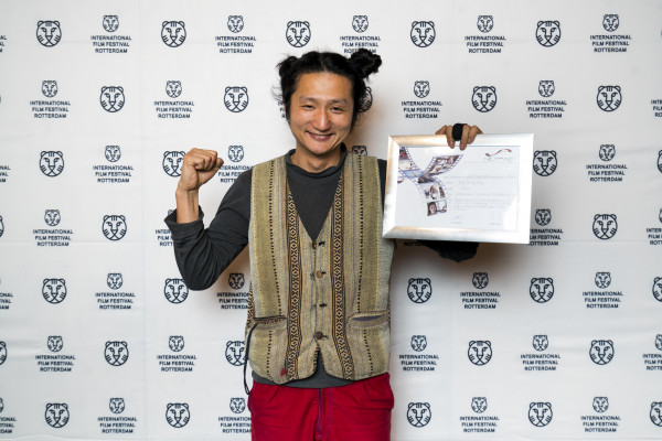 The Netherlands, Rotterdam, 03 February 2017. The 46th International Film Festival Rotterdam - IFFR 2017 Award Ceremony. Rong Guang Rong, winner NETPAC Award with Children Are Not Afraid of Death, Children Are Afraid of Ghosts. Photo: 31pictures.nl / (c) 2017, www.31pictures.nl